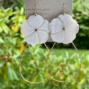 NWT Anthropologie Flower Earrings